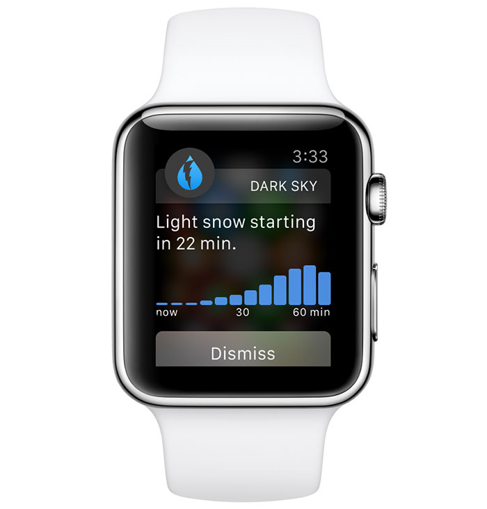 Apple Watch Dark Sky app