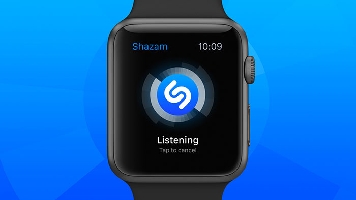 Apple Watch Shazam app