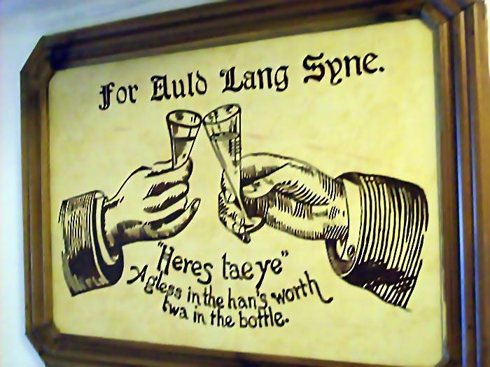 Auld Lang Syne on burns night