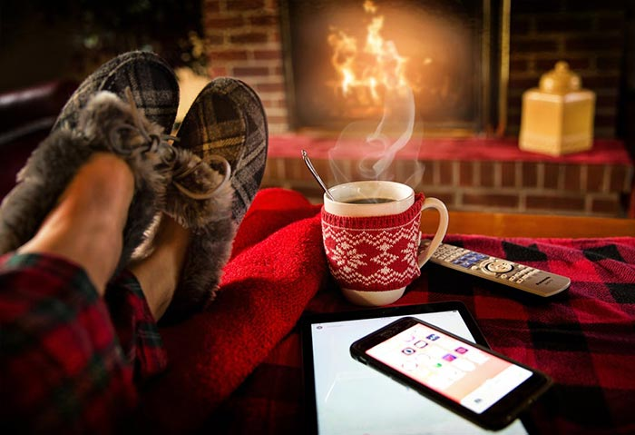 Avoid driving in icy conditions. Stay at home and put your feet up.