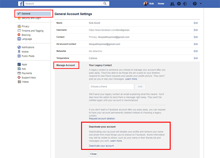 How to permanently delete your facebook account thomson local blog how to deactivate your facebook account ccuart Image collections