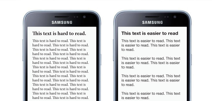 How to write text for mobile devices on the mobile first web