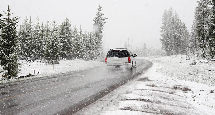 Be careful when driving in icy conditions