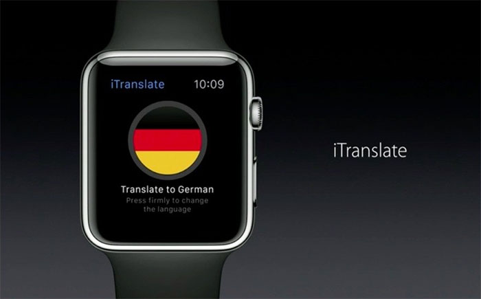 Apple Watch iTranslate app