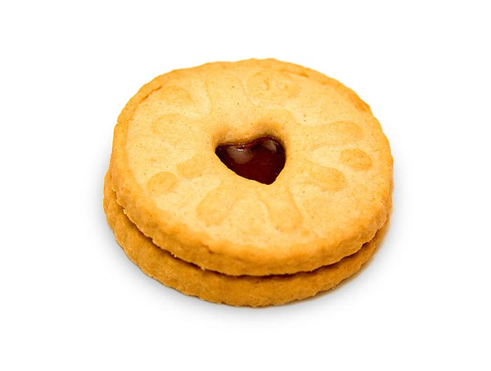 A Jammie Dodger is one of Britain's best biscuits