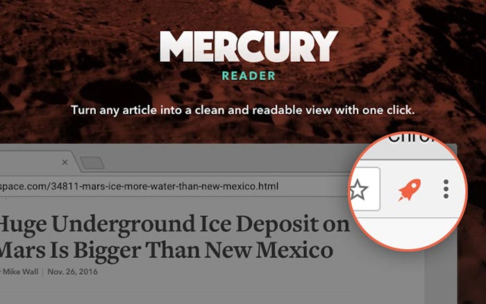 Download Mercury Reader from the Chrome App Store