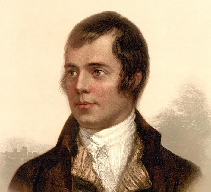 Portrait of Robert Burns of Scotland