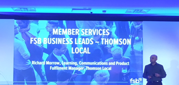 Richard Morrow attends the FSB Annual Sales Conference 2017 on behalf of Thomson Local