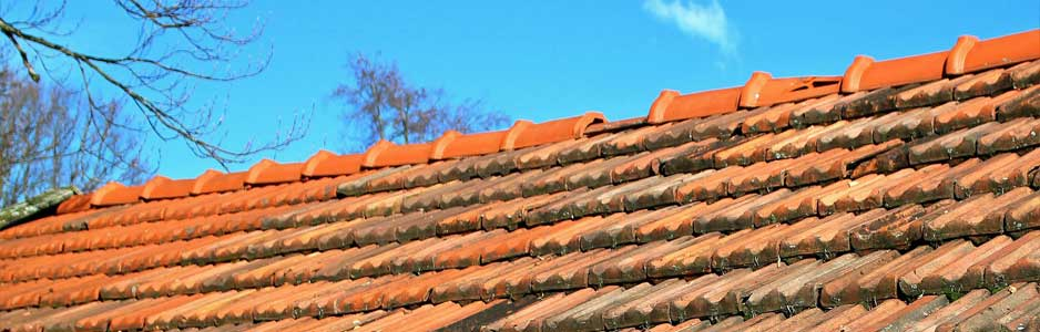 An example of a roof with red roof tiles