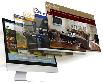 An example of the various designs and colours available with your Thomson Local Business Website.